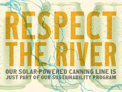 Respect the River power solar environment sustainability cans beer brewing river snake