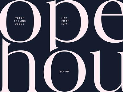 Open House Invite mansion tetons wyoming jackson elegant typography real estate open house invitation