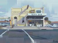 Angus O'Callaghan's Milk Bar kiki nostalgia australia milk bar heavy paint app digital painting art digital illustration illustration