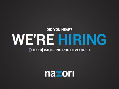 We re hiring