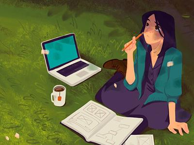 Making our website stand out blog header bugherd website startup macropod illustration
