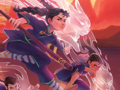 Cindy Lin's The Twelve digital art childrens literature book cover illustration