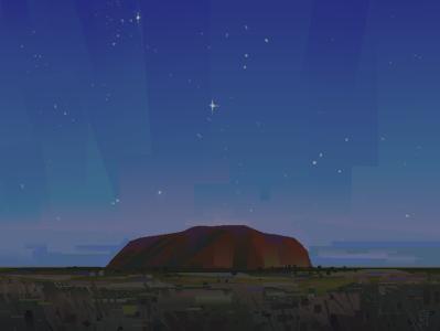 The Rock II magic hour sacred illustration galaxy digital painting digital illustration aurora art