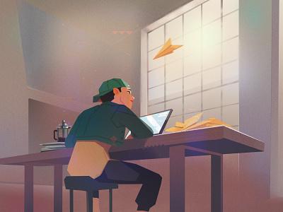 Stuck in a Bad Feedback Loop? feedback art blog header flat digital illustration startup illustration bugherd