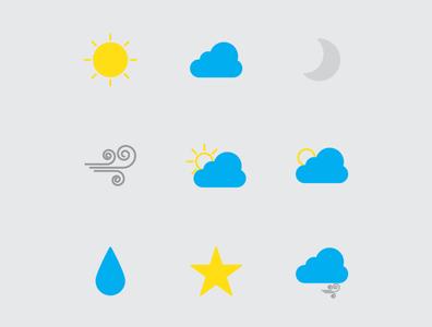 weather flat branding website web app ui design illustration vector icon
