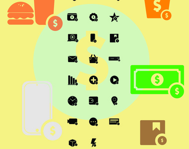 money product ui flat vector design icon