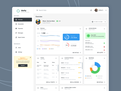 Dashy Dashboard date enterprise solutions service user experience ui design ux design desktop design nav analytics dashboard