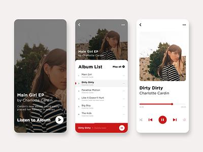 Music App musicplayer player music album playlist musicapp design ui app ux