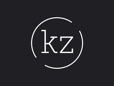 karmiczero logo typography dark clean circle portfolio