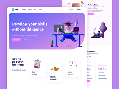 Product web-design: Landing Page best shot ux colorful gradient design pink design web product product product design illustration web design landing page landing ui