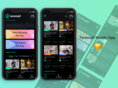 exploration for Terampil - Training Platfor (homepage) user experience design uiux uidesign ux illustration design app  design app ui