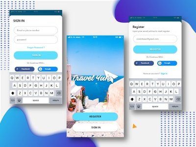 Login And Register Page Travel App