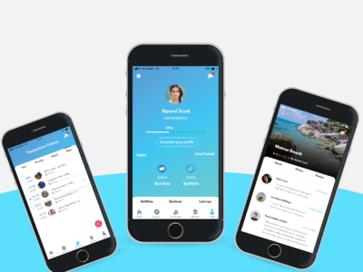 Profil and order ticket travel mobile app