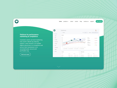 Landing page for a Web Plarform minimal front end design platform website flat web design ui