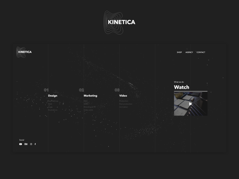 Kinetica website design web ux ui