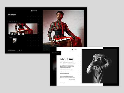 Portfolio for photographer website design web ux ui