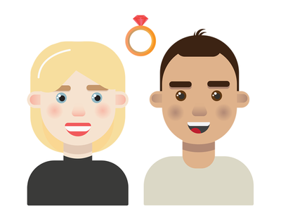 our engagement flat portrait vector illustrator illustration