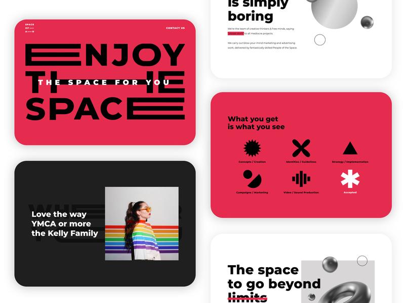 Space of Ad - Logotype & Website logotype typography website design animation web ux ui