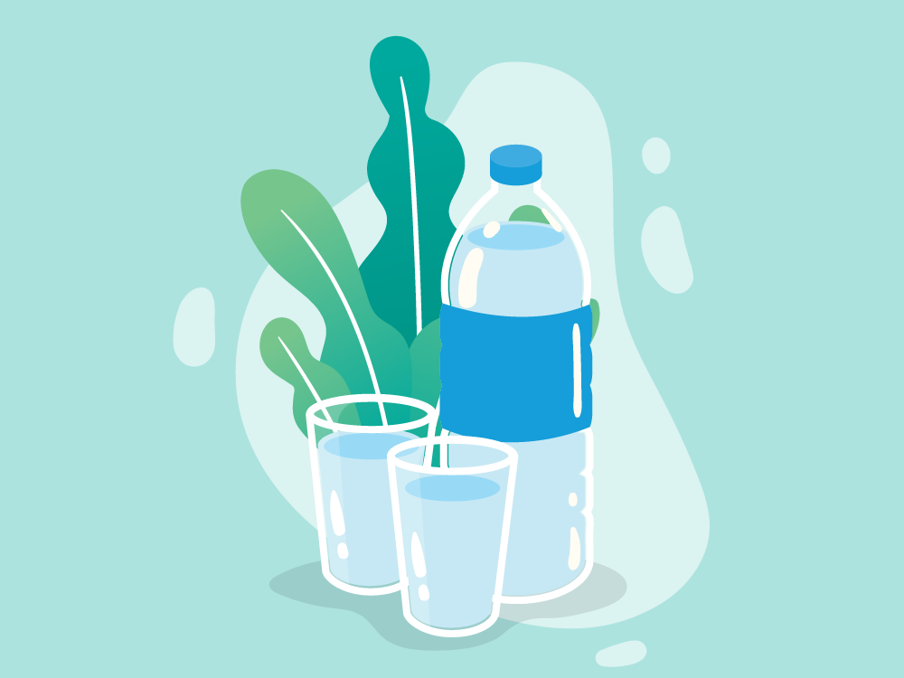 mineral water graphic design vector illustration