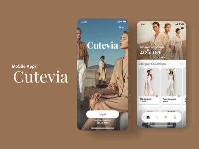 Cutevia mobile design mobile app design design mobile ui mobile app ui  ux ux design ui design