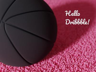 Hello dribbble uidesign blender 3d design 3d art