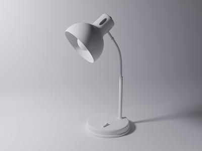 3D Desk Lamp - Clay 3d 3d animation 3d artist blendercycles blender3dart blender 3d blender3d c4d app design icon minimal illustration ui uidesign blender 3d design 3d art