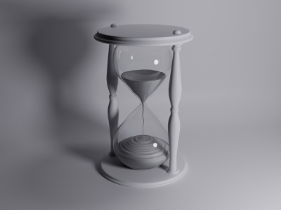 Hourglass Clay Version 3d illustration hourglass c4d 3d blendercycles blender3dart blender 3d blender3d illustration uidesign blender 3d design 3d art