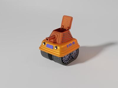 3D Tank stylized ui graphic design vehicle weapon minimal cute war tank b3d cycles render design 3d blendercycles illustration uidesign blender 3d design 3d art