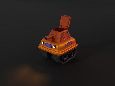 Tank at night b3d tank war cute minimal weapon vehicle graphic design stylized ui design 3d blendercycles illustration uidesign blender 3d design 3d art