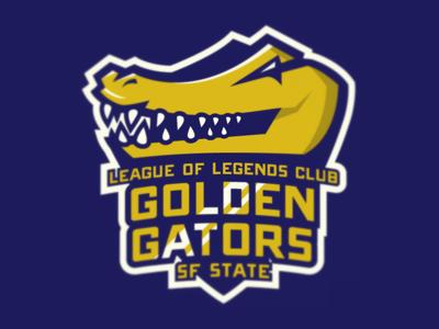 SF State League of Legends Club Logo college logo branding sports esports athletics league of legends gaming video games gator alligator illustration