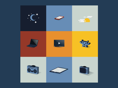 Tech Infographic Icon Illustrations illustration vector flat illustrator infographic icon 3d