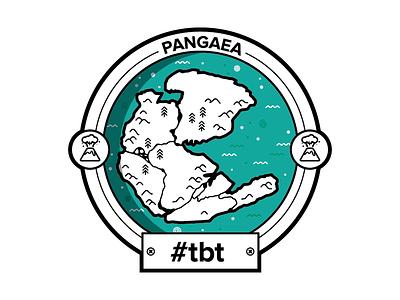 Pangaea #tbt pangea pangaea badge circle illustrator vector dnews turquoise tbt