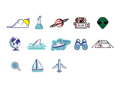 Seeker Stickers illustration flat seeker icons vector stickers
