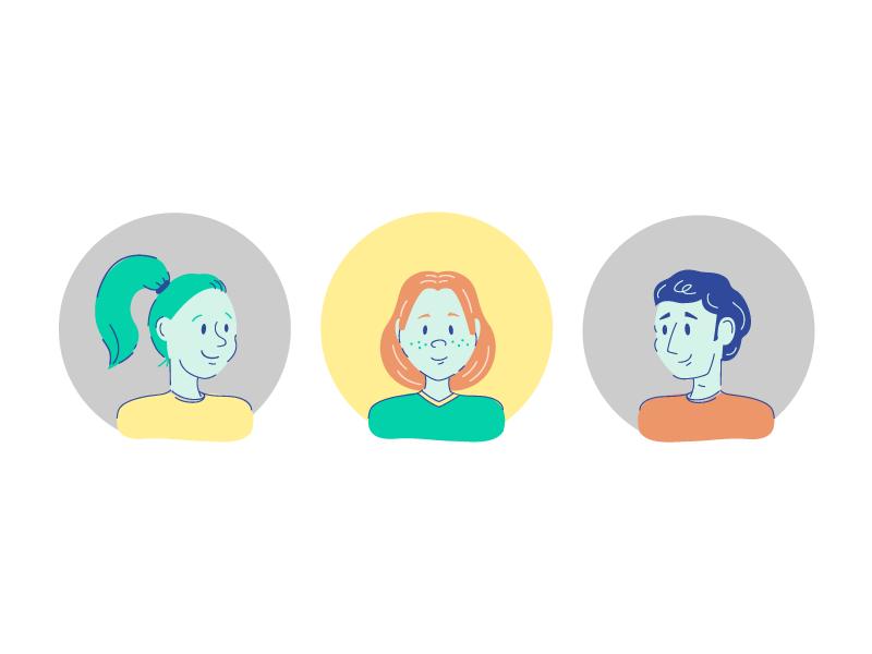 Personas user experience persona editorial vector illustration