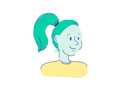 Persona 1 person vector illustrator illustration