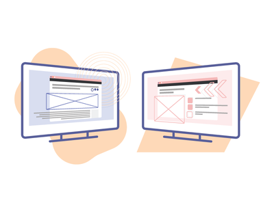 Seeker Case Study Images flat illustrator vector illustration