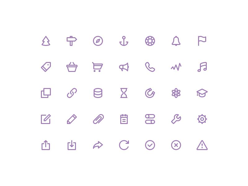 Freebies stroke icons [vol.2] goodies psd freebie glyphs icons stroke free line 32px simple justicons