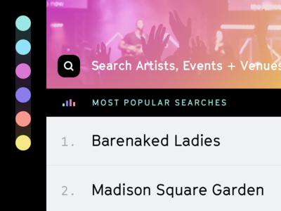 Events Exploration app ui ios color