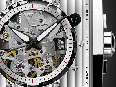 Gears of Watch watch face illustration photoshop illustrator gears