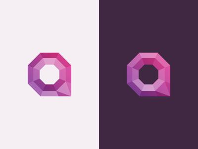 Q logo q purple