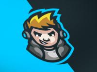 """Gamer"" mascot logo"