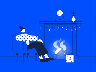 Xmas vibes clean cozy blue vector design illustrator illustration xmas