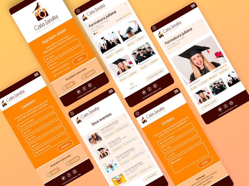 CarlaZanattaApp web design ui ux app