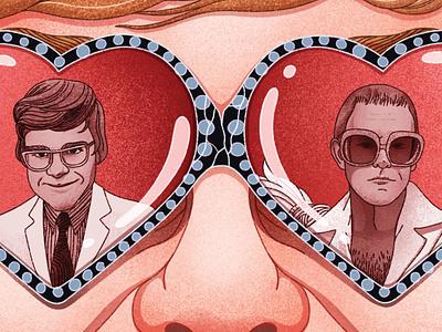 Elton John - 'Me' Book Review editorial illustration procreate art digital design procreate illustrator illustration book review