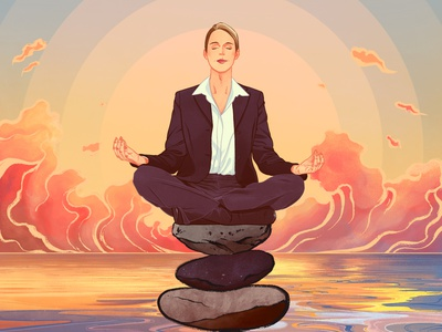 Lumosity mental health science editorial editorial illustration procreate art digital design procreate illustrator illustration