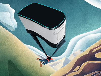 Virtual Reality Can Help People Overcome Fear of Heights acrophobia technology science illustration nature illustration science virtual reality nature mental health procreate art procreate illustrator illustration editorial illustration editorial digital design