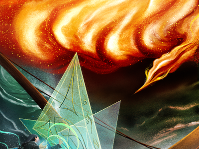 Howl's Moving Castle: The battle howls moving castle book illustrations procreate art procreate illustrator digital design illustration fantasy art fantasy spells magic