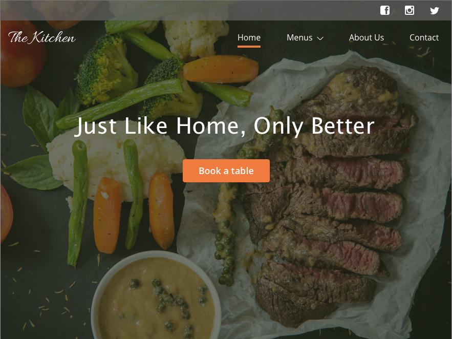 Day 3 - Restaurant landing page design ux ui uidesign dailyui