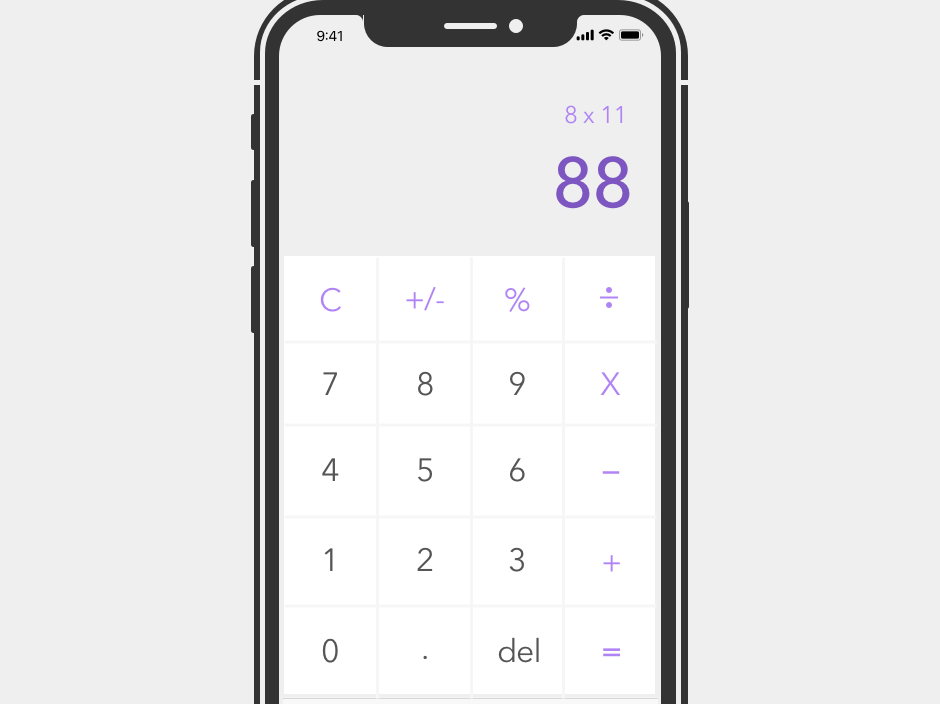 Day 4 - Calculator design ux ui dailyui