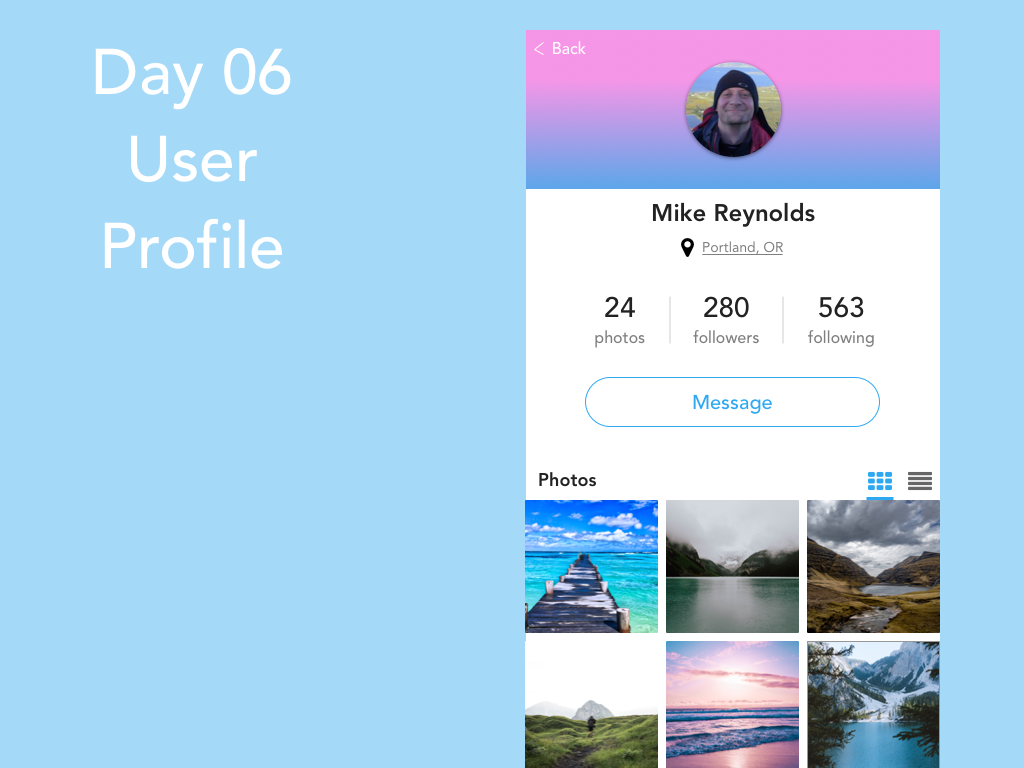 Day 6 - User Profile day006 design uidesign ui dailyui